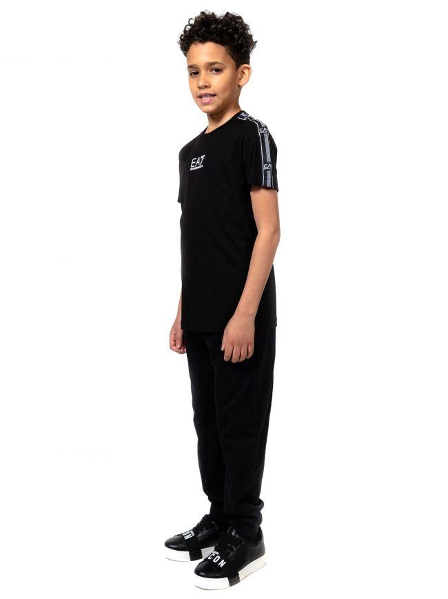 EA7 Kids Black Crew Neck T-Shirt