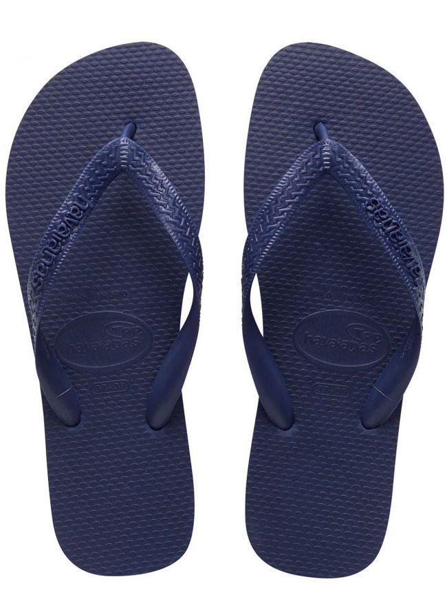 Navy Top Flip Flops