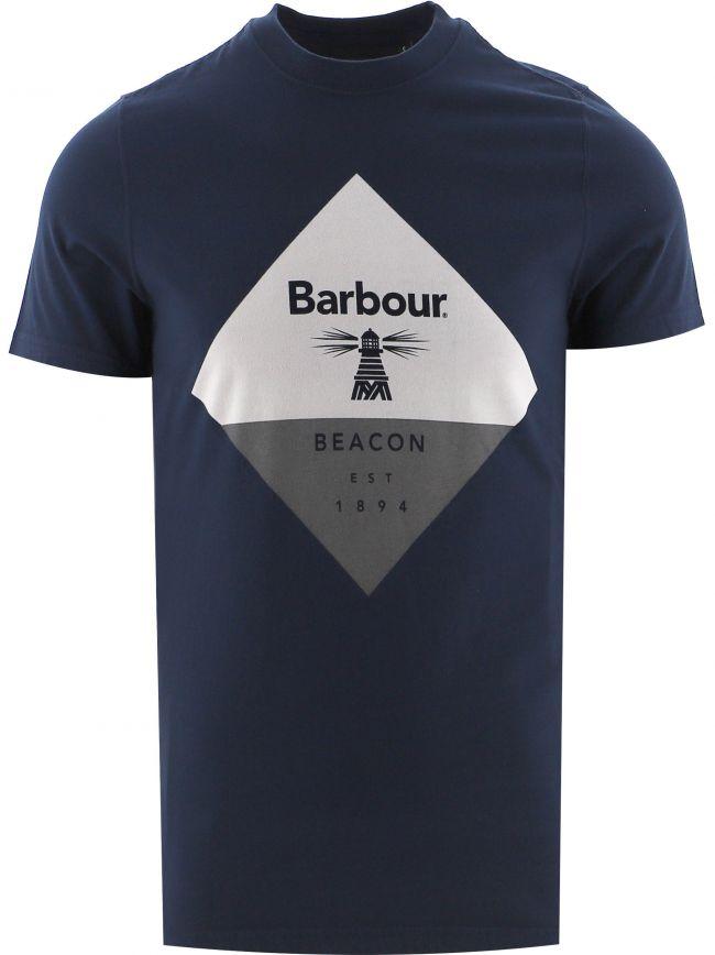 Navy Diamond T Shirt