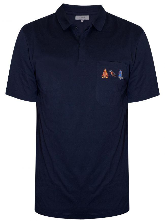 Navy Blue Firebird Polo Shirt