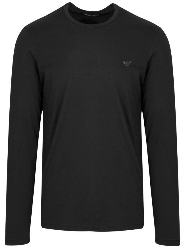 Black Eagle Logo Long-Sleeved T-Shirt