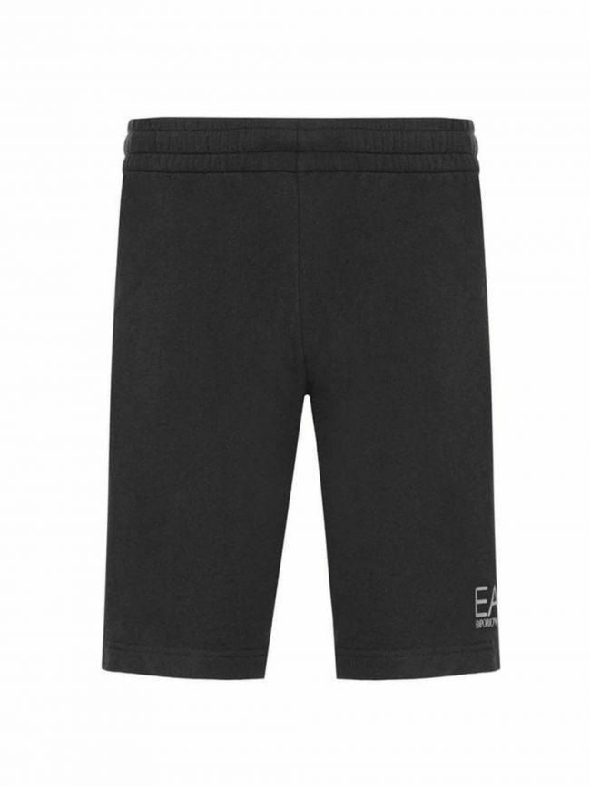Black Logo Cotton Shorts
