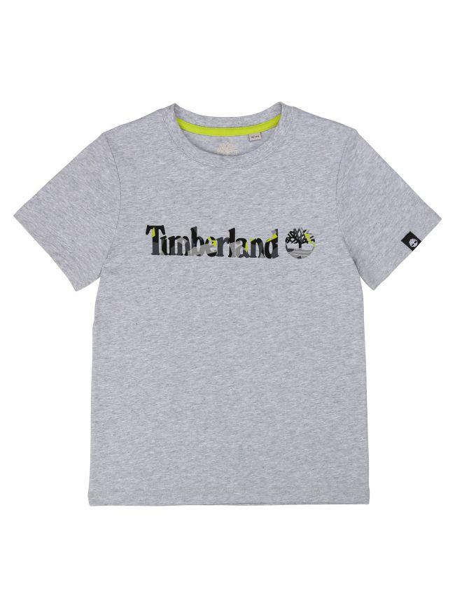 Timberland Kids Grey Short Sleeve T Shirt