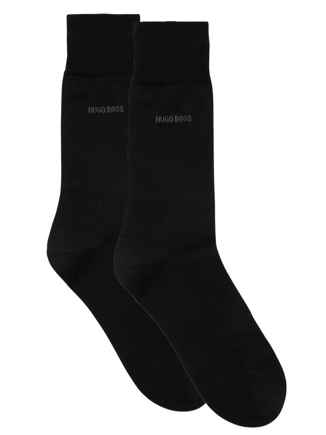 Black 2 Pack Finest Soft Cotton Socks
