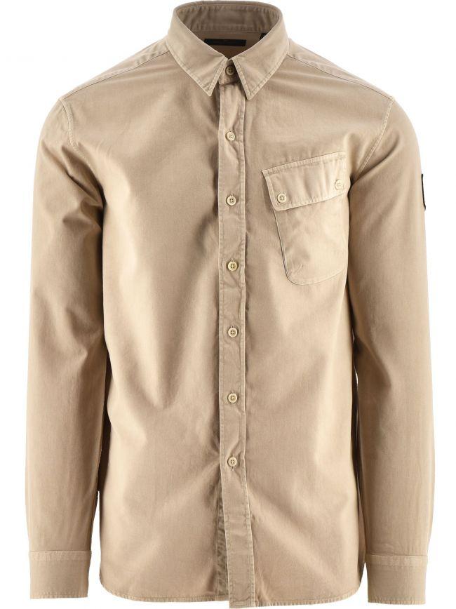 Stone White Pitch Twill Shirt