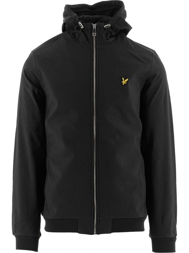 Black Hooded Softshell Jacket