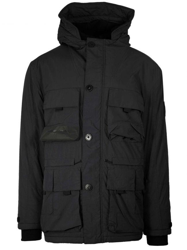 Black Resin Field Parka Jacket