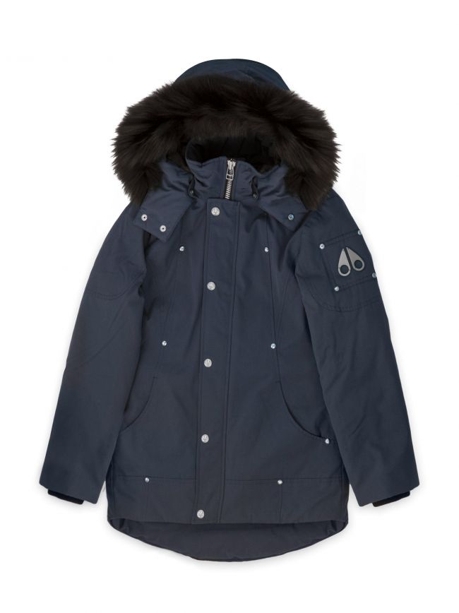 Navy Blue Unisex Parka Jacket