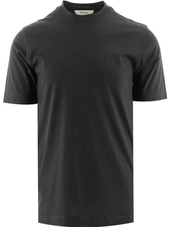Black Short Sleeve Plain T-Shirt