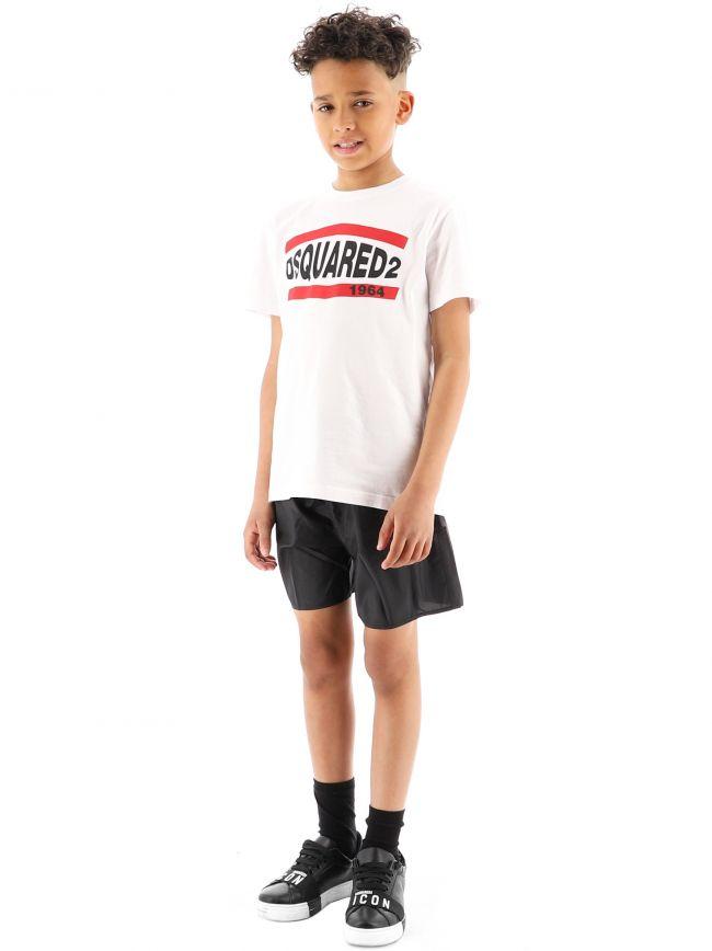 DSQUARED2 Kids Black Logo Swim Short