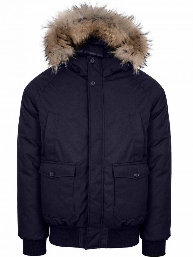 Navy Mistral Fur Jacket