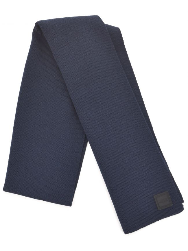 Navy Foxon Ribbed Scarf