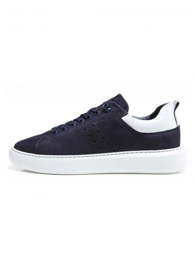 Navy & White Scott Nubuck Sneaker
