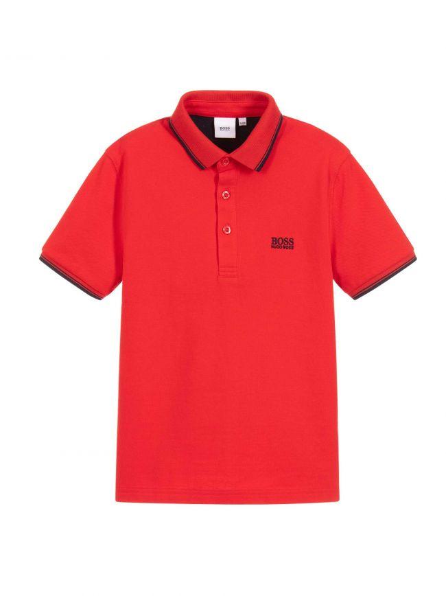 Red Piquí© Cotton Polo Shirt