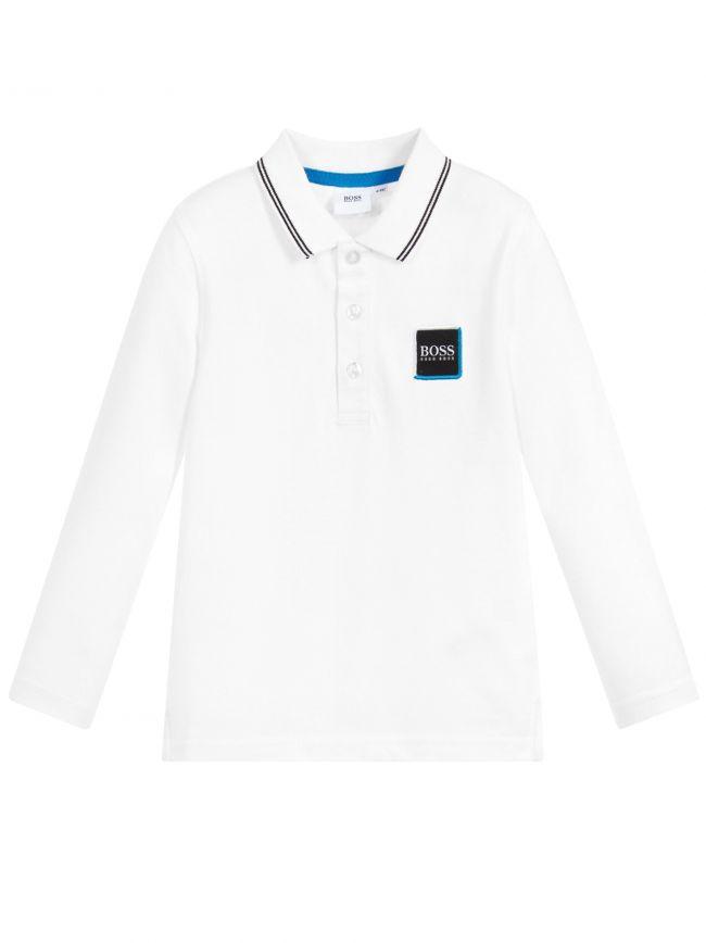 White Long-Sleeve Polo Shirt