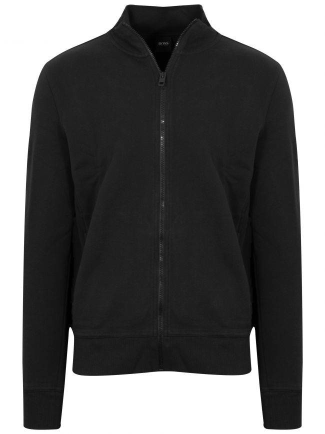 Black Zkybox Funnel Neck Zip Top