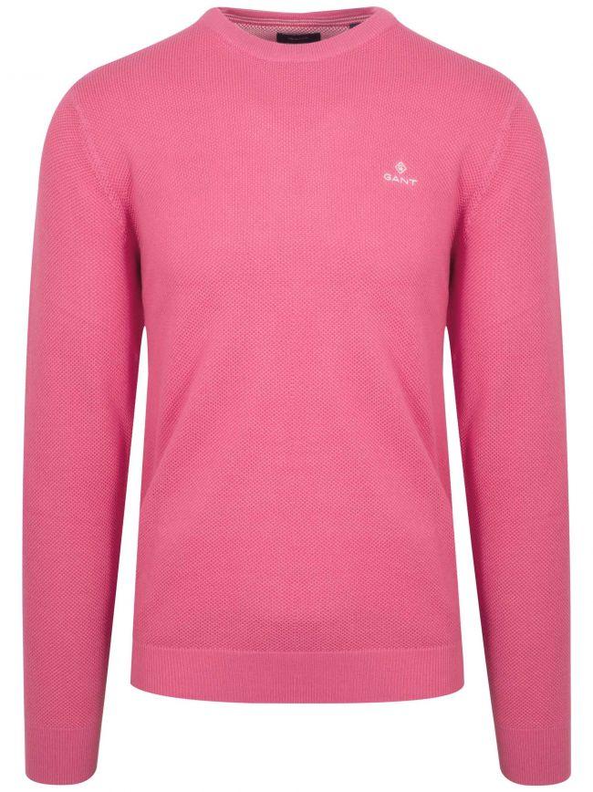 Pink Honeycomb Sweatshirt