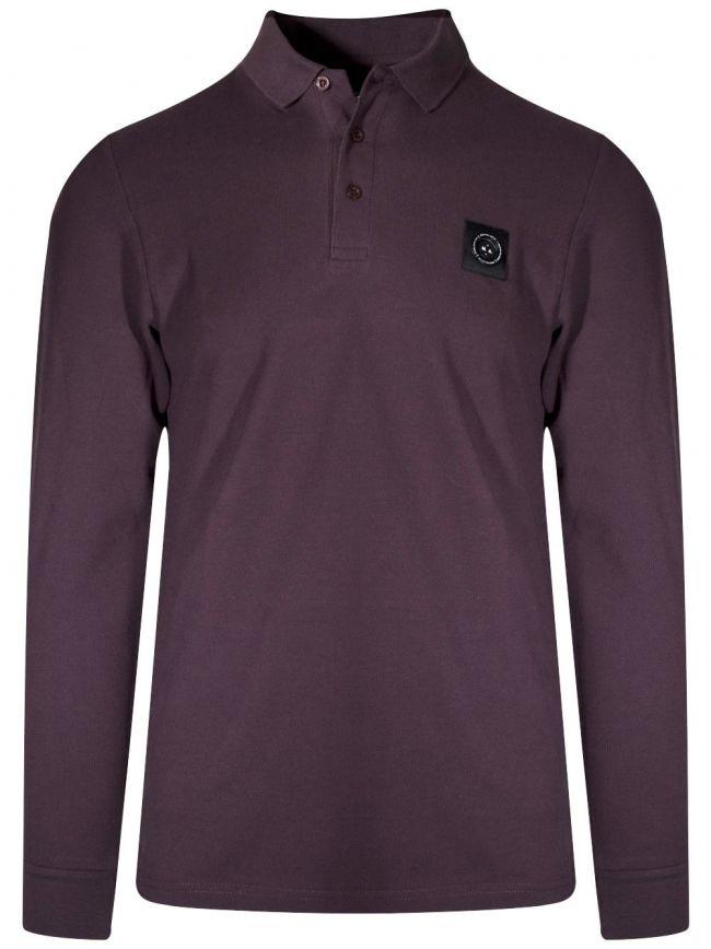 Burgundy Long-Sleeved Siren Polo Shirt