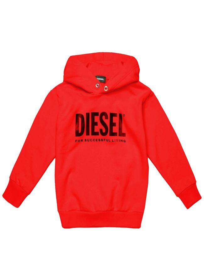 Diesel Kids Red Division Logo Sweatshirt