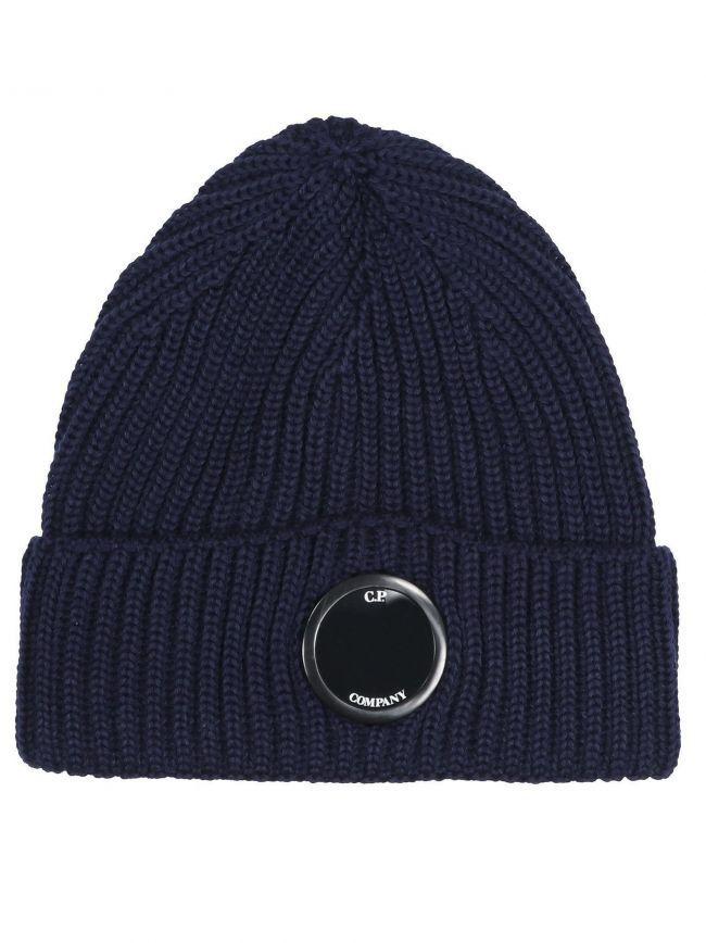 Navy Lens Beanie Wool Hat