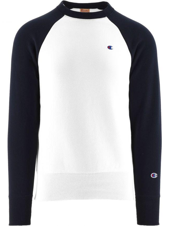 White Crew Neck Sweatshirt
