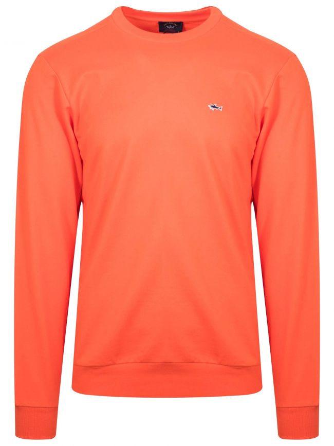 Orange Shark Logo Sweatshirt