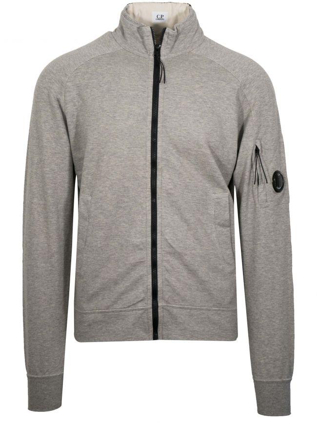 Grey Bomber Zip Sweatshirt