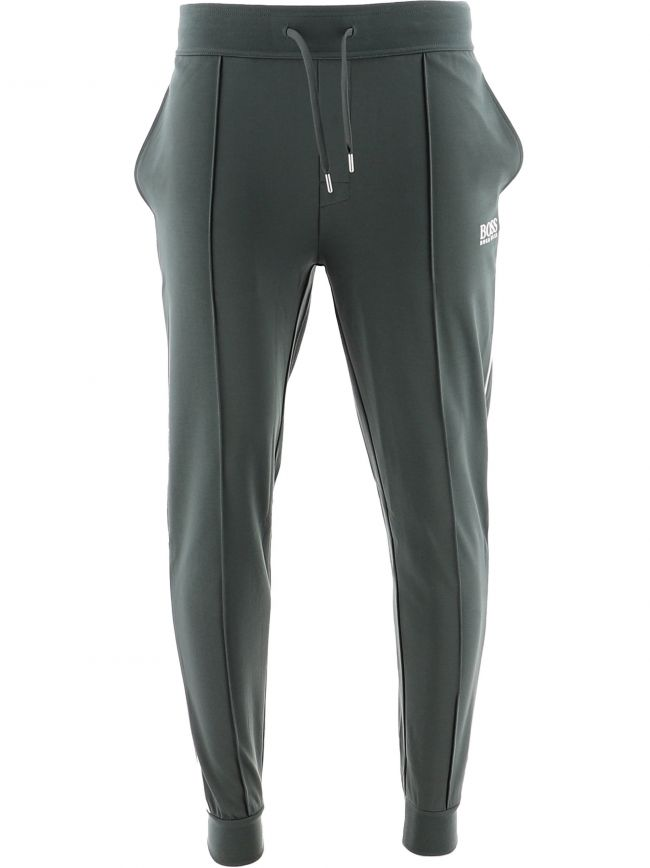 Dark Green Cuffed Tracksuit Jogging Pant