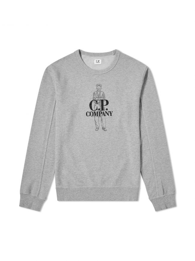 Grey Embroidered Logo Sweatshirt