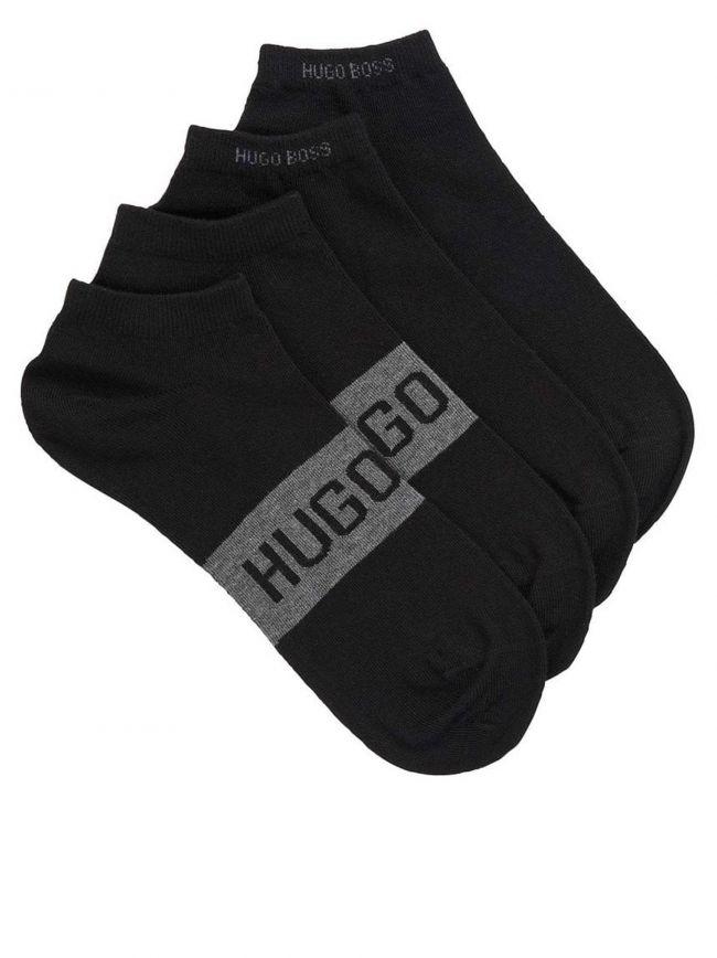 Black 2-Pack Ankle Socks