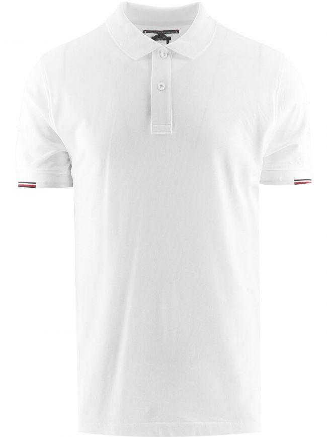White Subtle Logo Polo Shirt