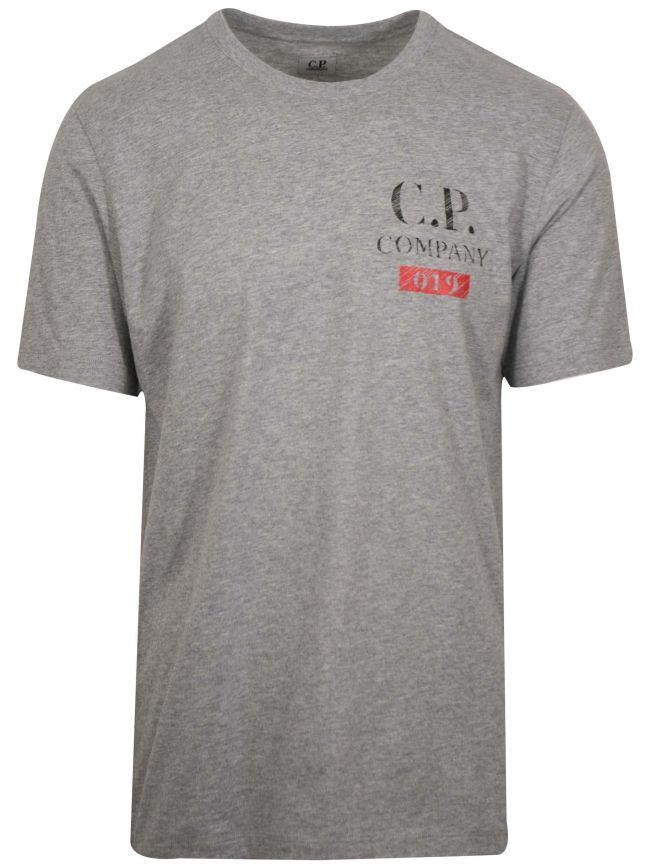 Grey Print Logo T-Shirt