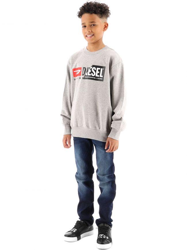 Diesel Kids Grey S-GIRK-Cuty Sweatshirt