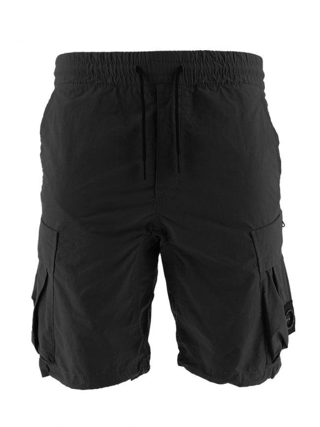 Black Cotton Polyamide 420 Cargo Short