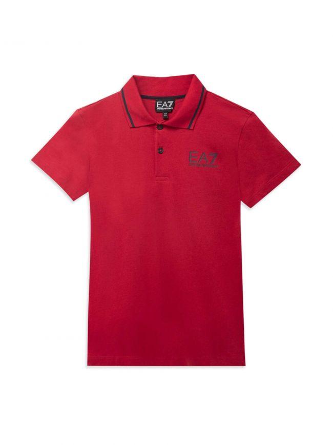 Red Motif Polo Shirt