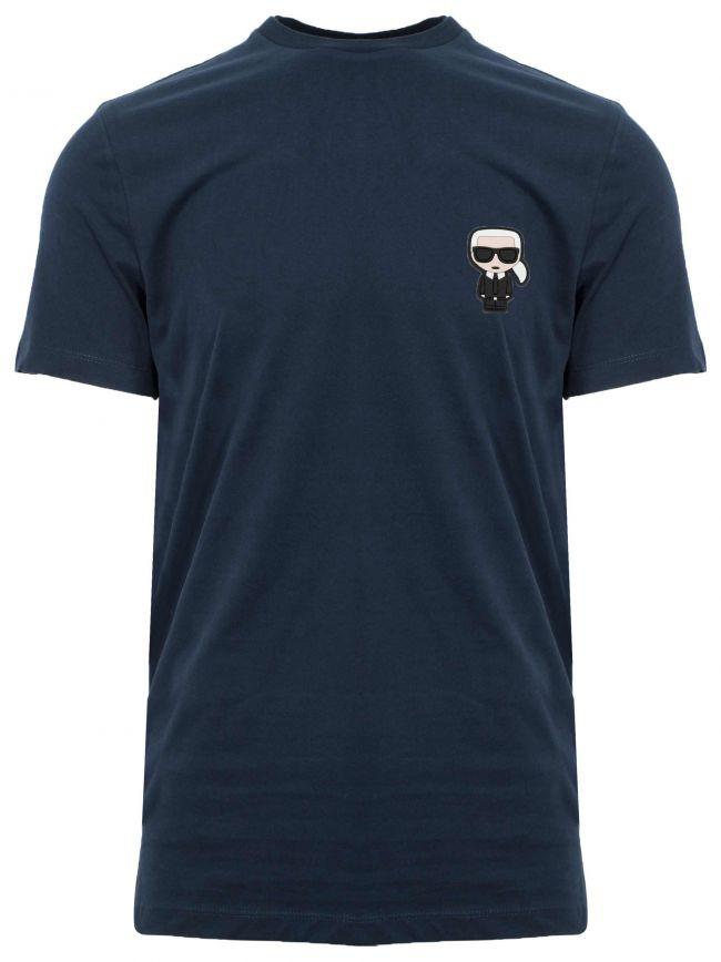 Navy Rubber Logo T-Shirt