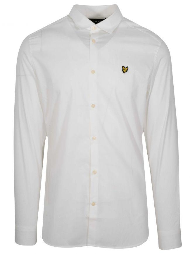 White Slim Long-Sleeve Shirt