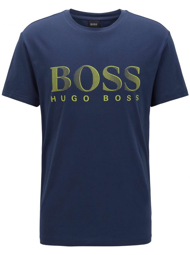 Navy Blue & Green UV Protection T-Shirt