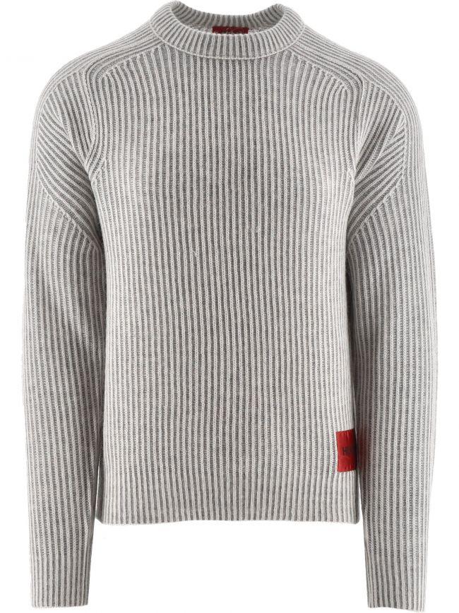 Light Beige Shair Knitted Jumper