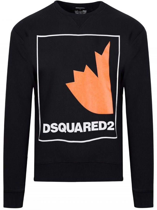 Black Maple Logo Crew Neck Sweatshirt