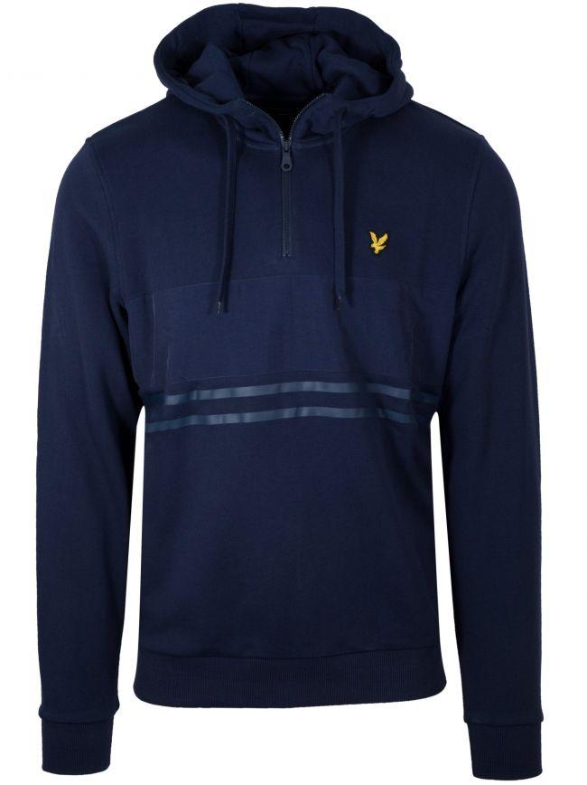 Navy Blue Half Zip Hoodie Sweatshirt