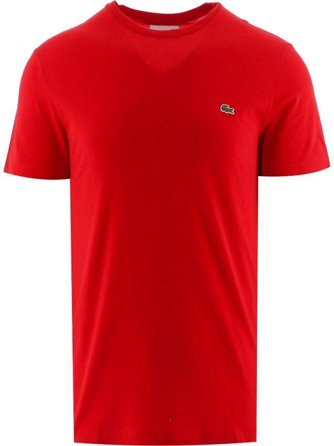 Red Short Sleeve Crew Neck T-Shirt