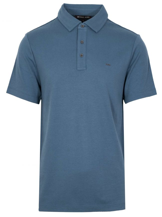Classic Dark Chambray Polo Shirt