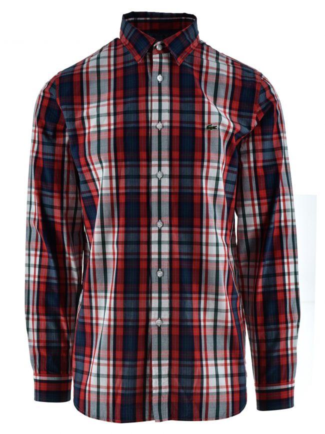 Long-Sleeved Red Check Shirt