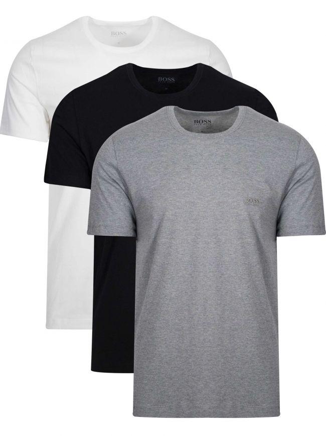 Multi Coloured Three Pack Crew Neck T Shirt