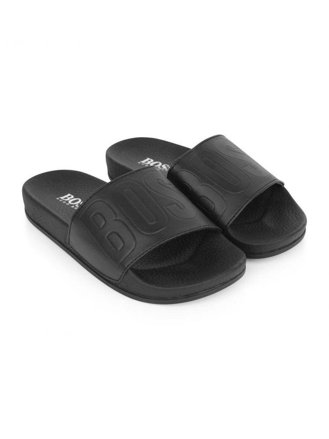 Black Rubber Tonal Sliders