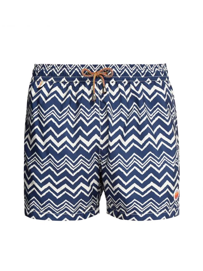 Blue Zig-Zag Swim Shorts