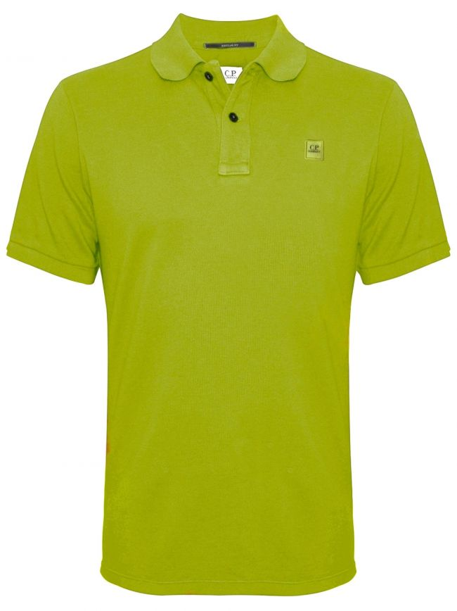 Garment Dyed Green Polo Shirt