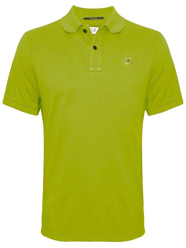 Garment Dyed Green Polo Shirt