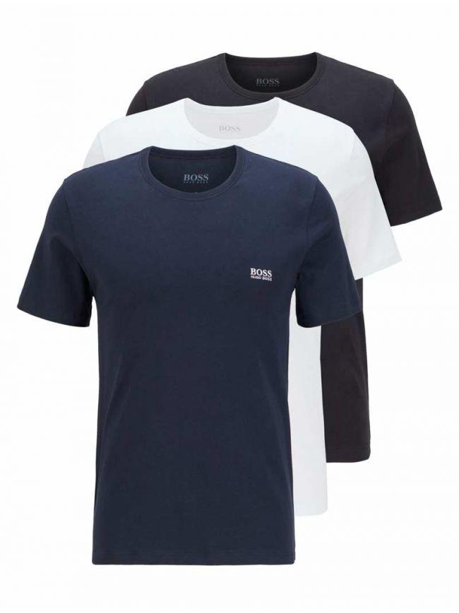Multi-Coloured 3-Pack Crew Neck T-Shirt